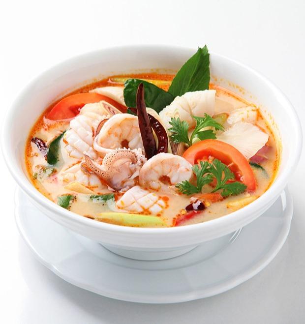 泰式風味冬蔭海鮮湯