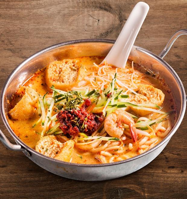 新加坡風味叻沙海鮮麵